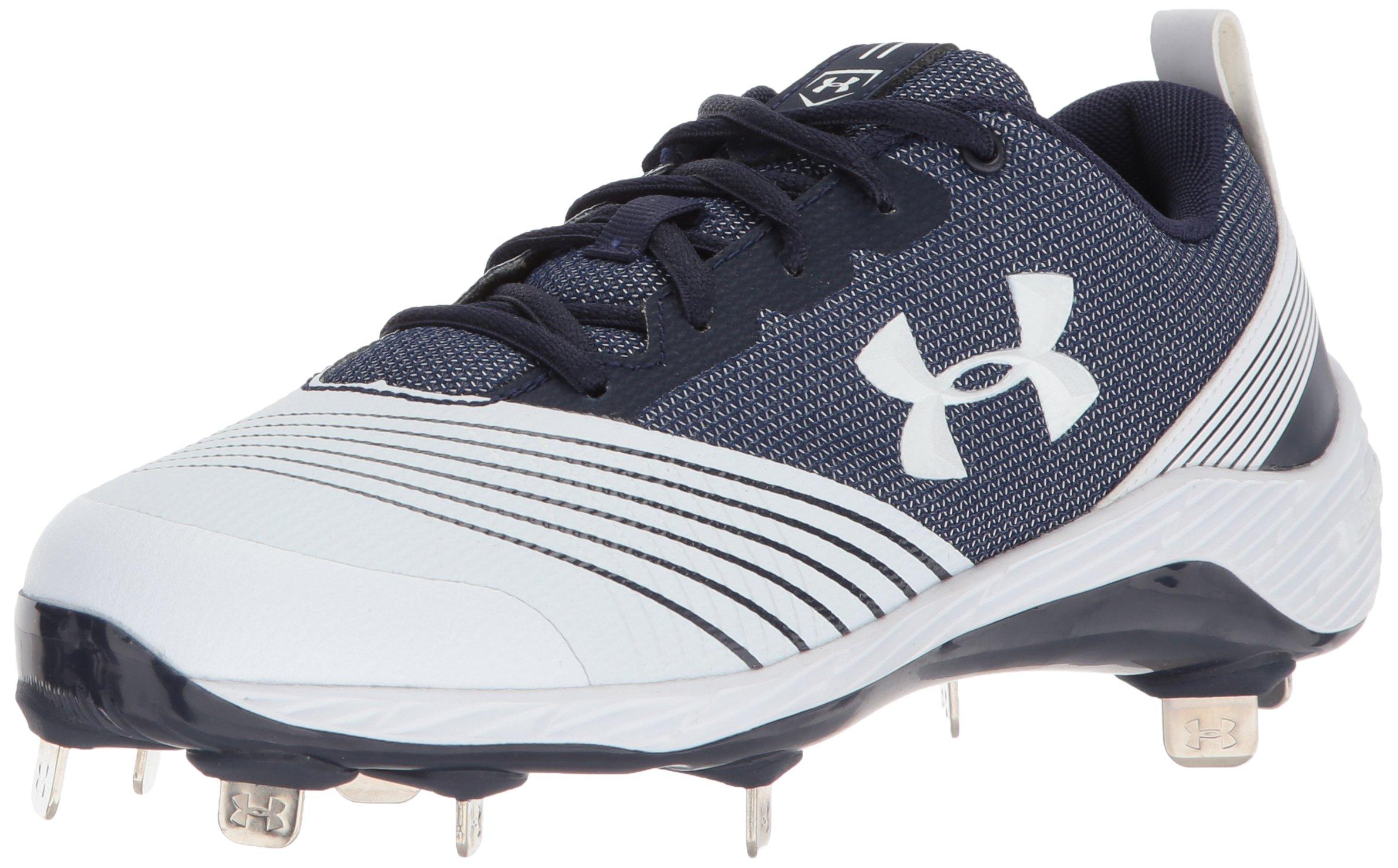 Under Armour Women's Glyde ST Softball Shoe, White, 8