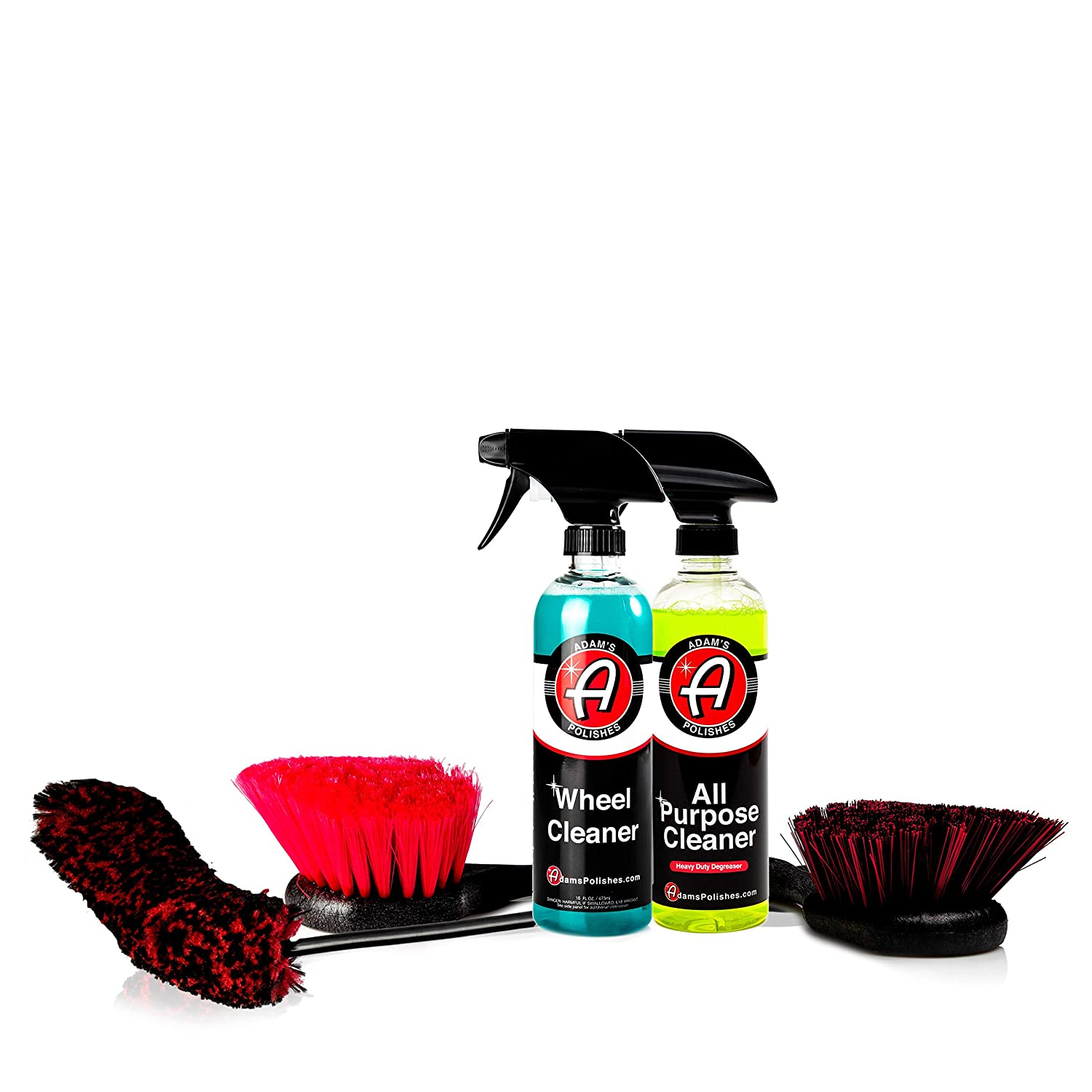 Amazon.com: Adams Complete Wheel & Tire Car Kit to Professionally Detail Your Wheels & Tires - Wheel & Tire Cleaner with All Brushes Needed (Ultimate Wheel ...