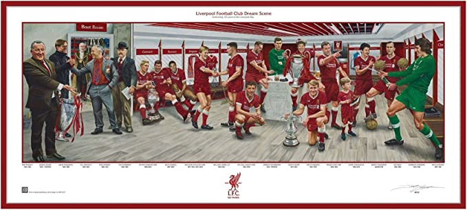 Liverpool FC LFC Dream Scene Fine Art Lithograph 95cm x 42cm Official