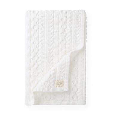 53fe7327f6b8 Amazon.com  Hope   Henry Layette Ivory Cable Blanket  Clothing