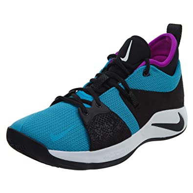 sale retailer 54279 b92fb Nike PG 2 Mens Fashion-Sneakers AJ2039-402_8.5 - Blue Lagoon/Black-Hyper  Violet-White