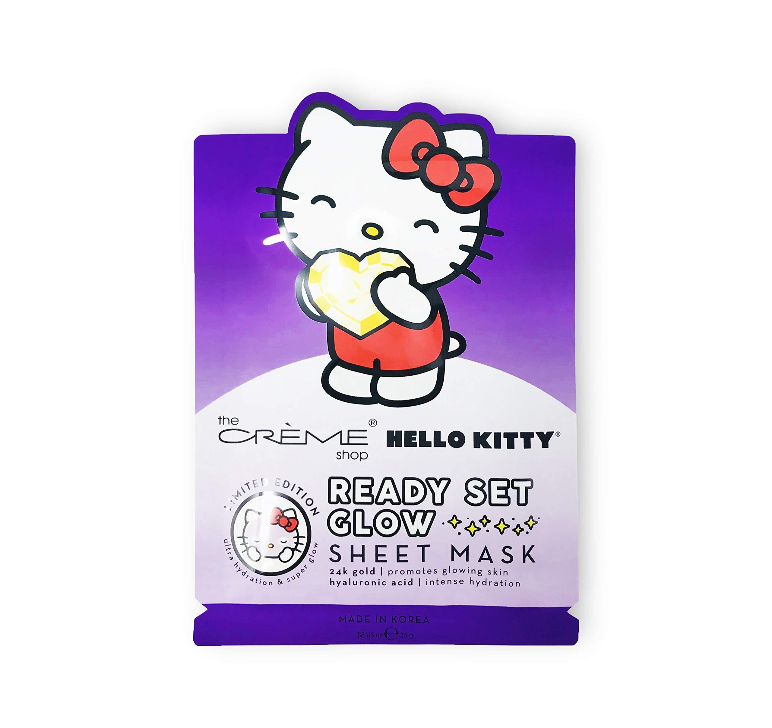 9c207a4d7 Amazon.com : The Crème Shop x Sanrio Sheet Mask (Hello Kitty Ready Set  Glow) : Beauty