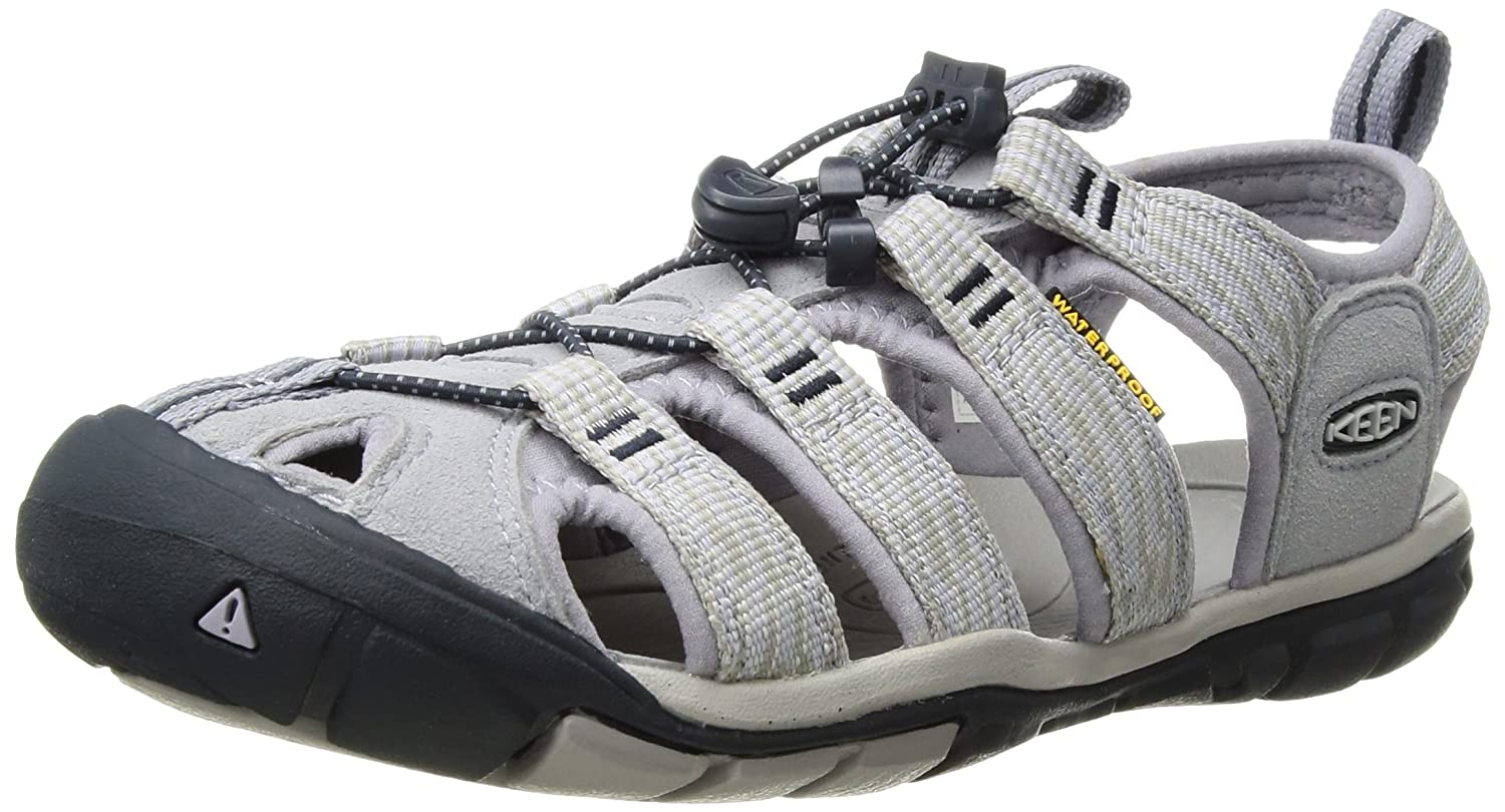 KEEN Women's Clearwater CNX-W Sandal B06ZZMV4YT 9.5 B(M) US|Dapple Grey/Dress Blue