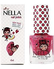 Miss Nella SUGAR HUGSS pezieller Nagellack mit Glitzer für Kinder, Peel-Off-Formel, wasserbasiert und geruchsneutral