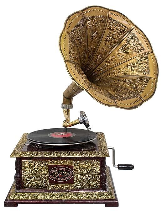Nostalgia gramófono gramófono Embudo de Estilo Antiguo decoración ...