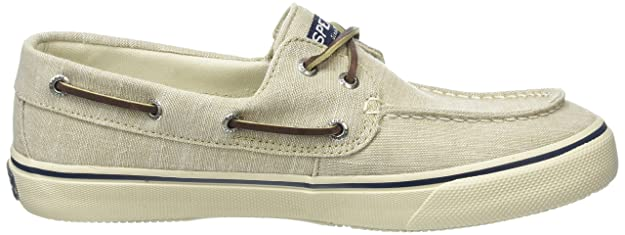 Sperry Top-Sider Men's Bahama 2-Eye Linen Fashion Sneaker, Chino, 7 M US