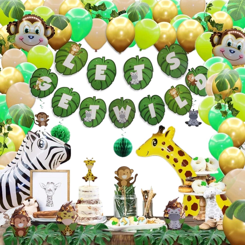 """12 pcs 4/"""" Baby Shower Safari//Jungle Giraffe Animal Decorations Girl//Boy"""