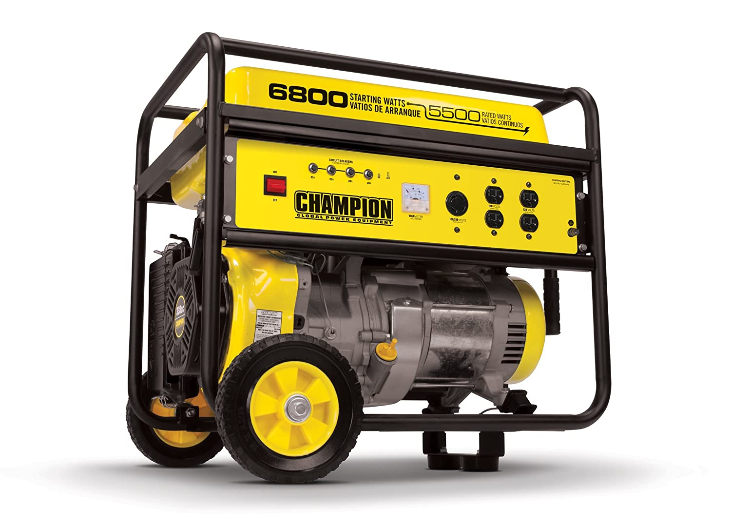 Amazon Champion 5500 Watt Portable Generator With Wheel Kit
