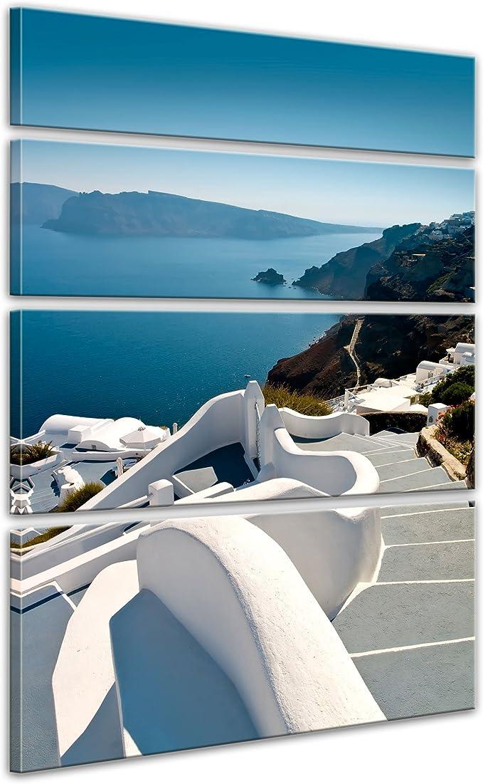 Bilderdepot24 Bastidor Lienzo Santorini Escaleras Grecia