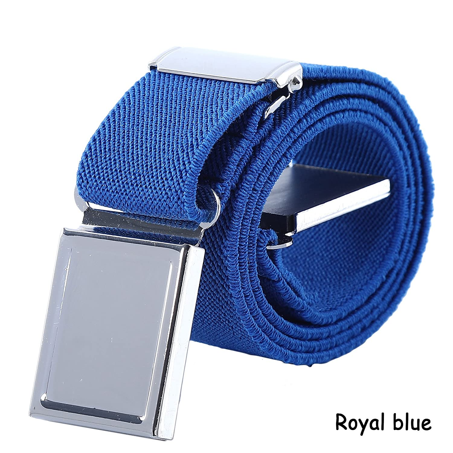 Boy Kids Magnetic Buckle Belt - Adjustable Elastic Child Belts for Girls, 3 Pieces (Royal blue) B01D9S5U1Ia16