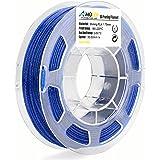 AMOLEN 3D Printer PLA Filament 1.75mm, Speckle Shining Blue, 200G(0.44lb) +/- 0.03 mm, Includes Sample Temp Color Change Filament - 100% USA