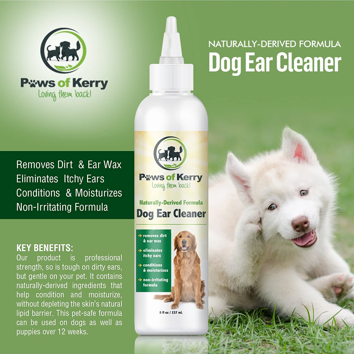 Amazon Dog Cat Ear Infection Treatment for Itch Discharge