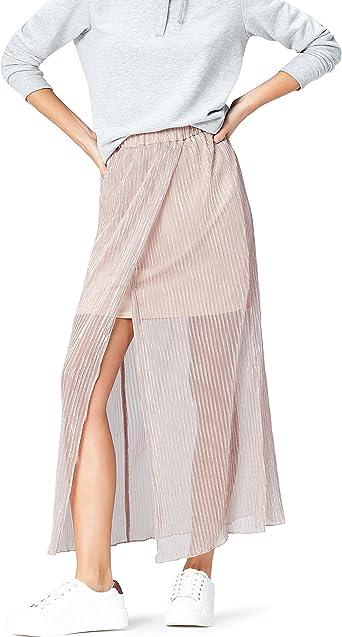 Marca Amazon - find. Falda Plisada de Doble Capa para Mujer ...