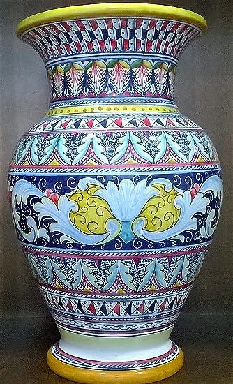 Vaso in Maiolica/Ceramica dipinto interamente a mano da Artista di ...