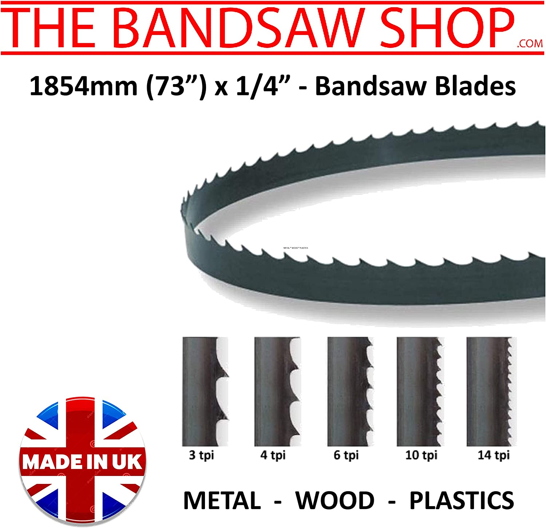 6mm x 1//4 1854mm Wide Wood Cutting Bandsaw Blades 1854mm x 1//4 73 73 6mm 32 TPI