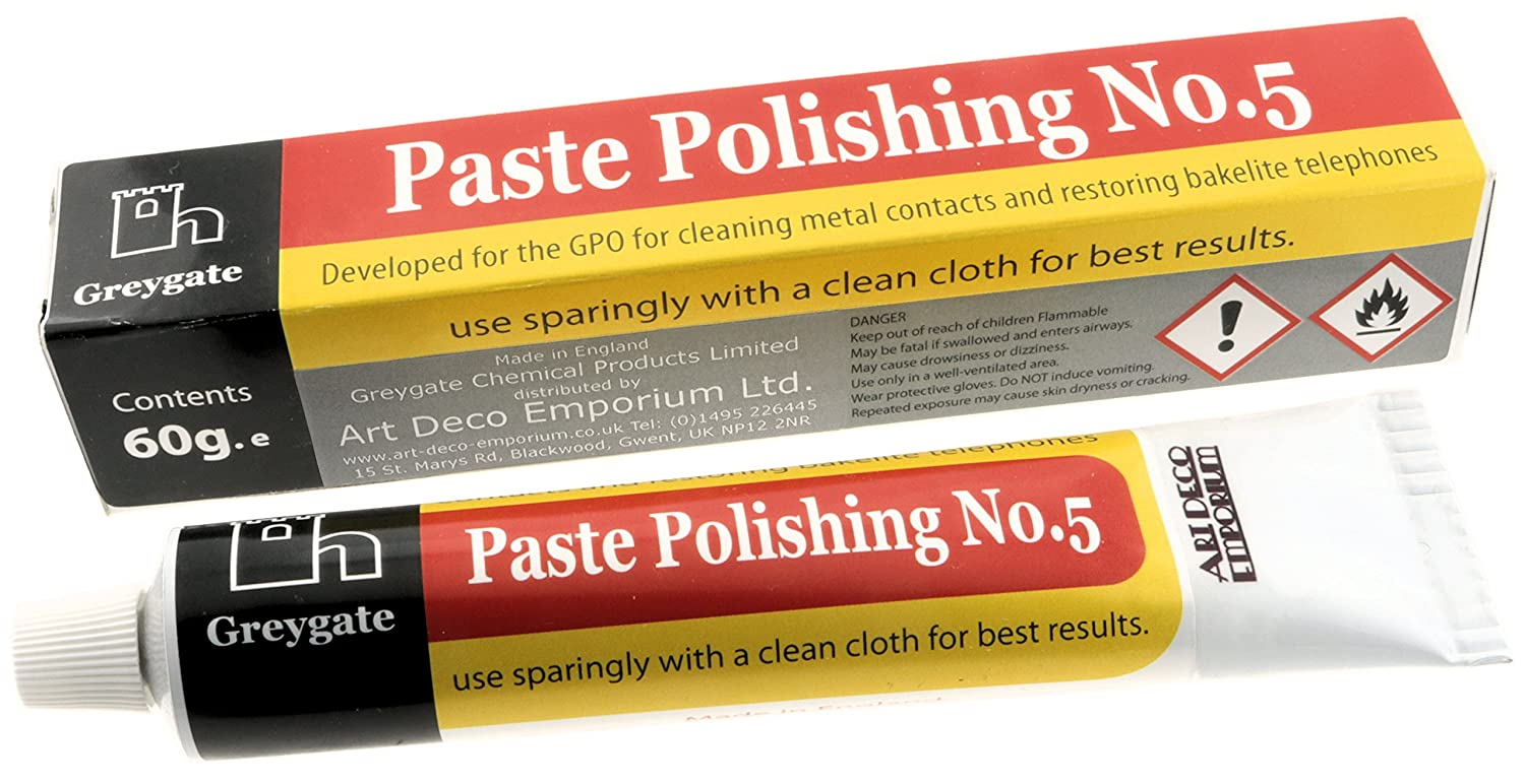 Hard Plastic and Vintage Bakelite Renovation Polishing Paste (1 tube of 60g) Greygate OTH-GG-PASTE-60