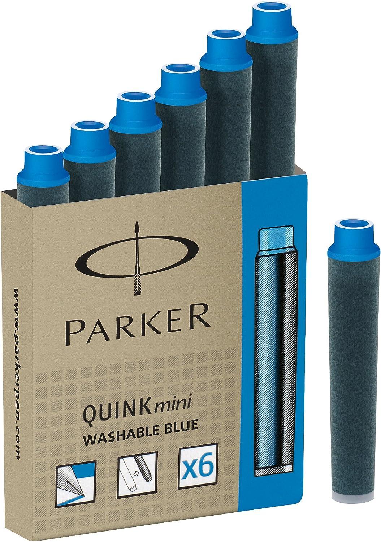 Parker Quink Fountain Pen Refills Long Cartridges Pack of 10 Black Ink