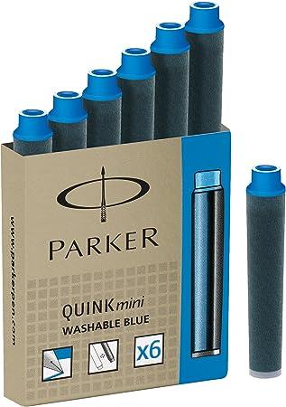 Parker Quink Fountain Pen Refills Black Ink Pack of 10 Long Cartridges