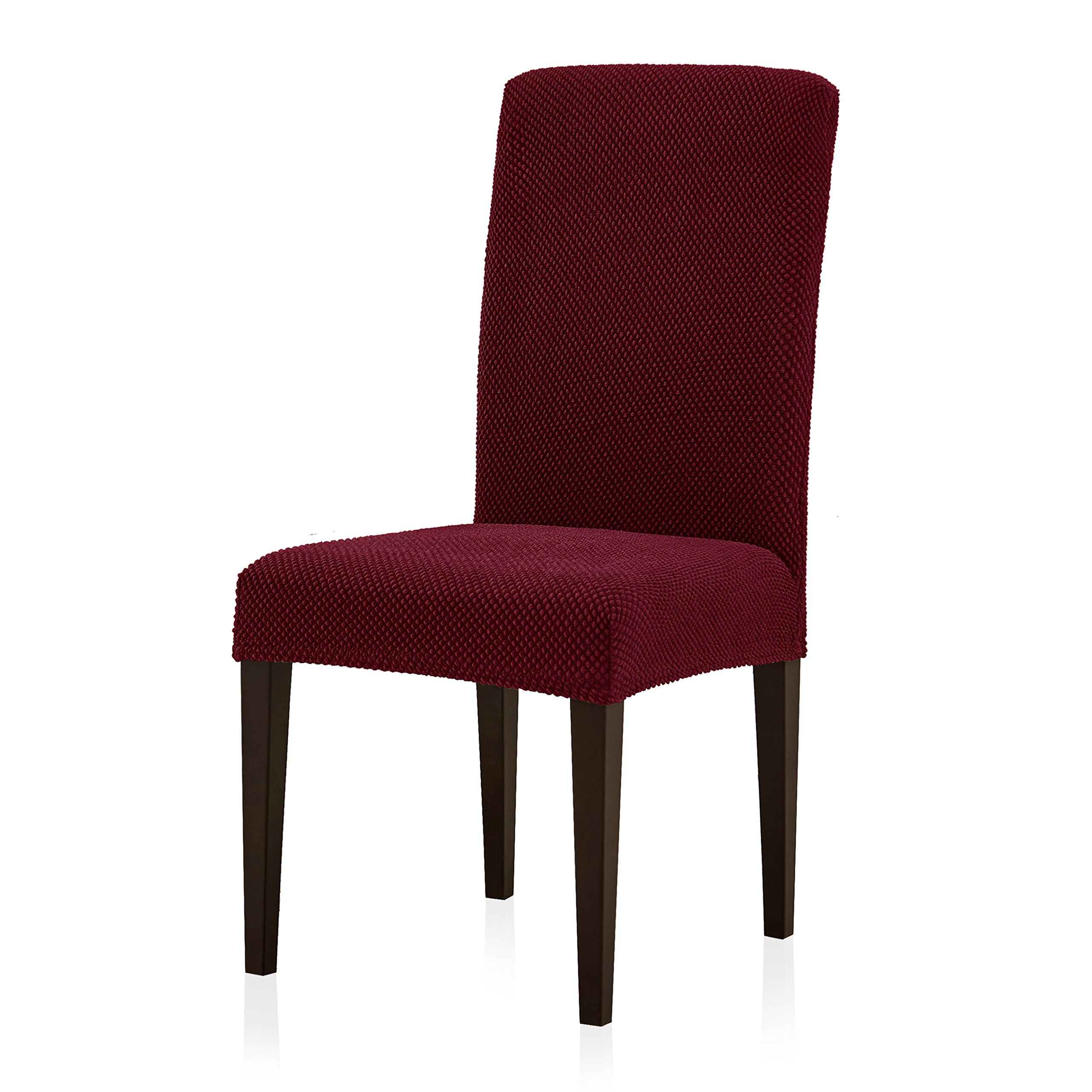 Subrtex Stretch Dining Room Chair Slipcovers (2, Wine Jacquard)