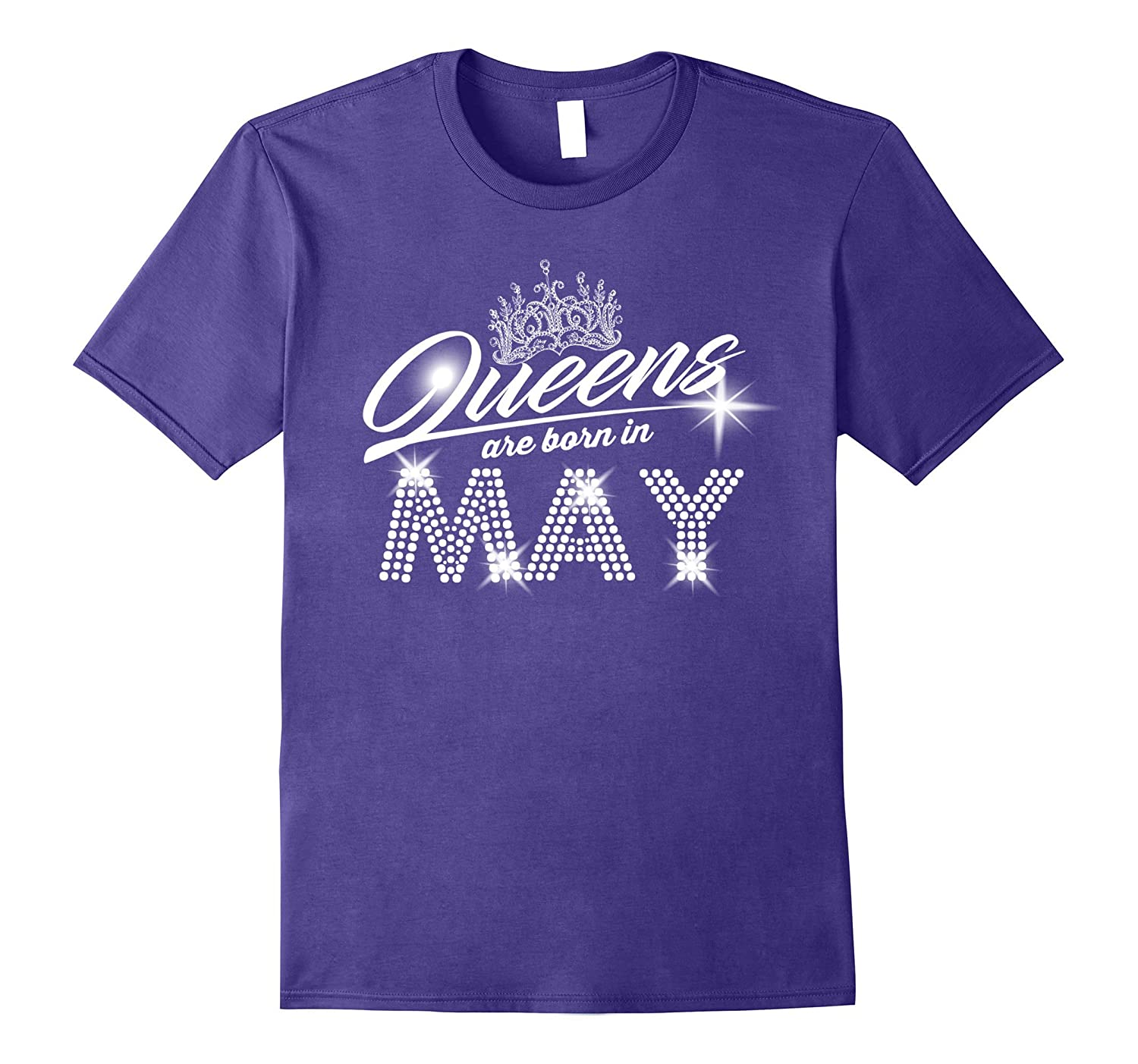 Queens Are Born In May Funny Tshirt For WomenMom-Vaci