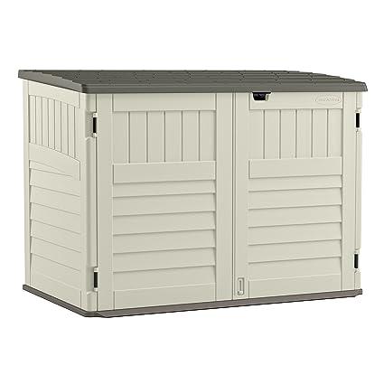 Amazon Suncast Bms4700 The Stow Away Horizontal Storage Shed