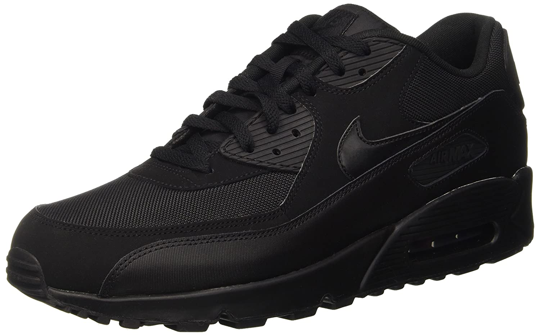 buy online 77d31 80a08 Nike Men's Air Max 90 Essential Running Shoes, Black/Black, 7.5 M US