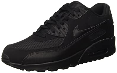 Nike Air Max 90 537384, Herren Sneakers Training, Schwarz (Black/Black/