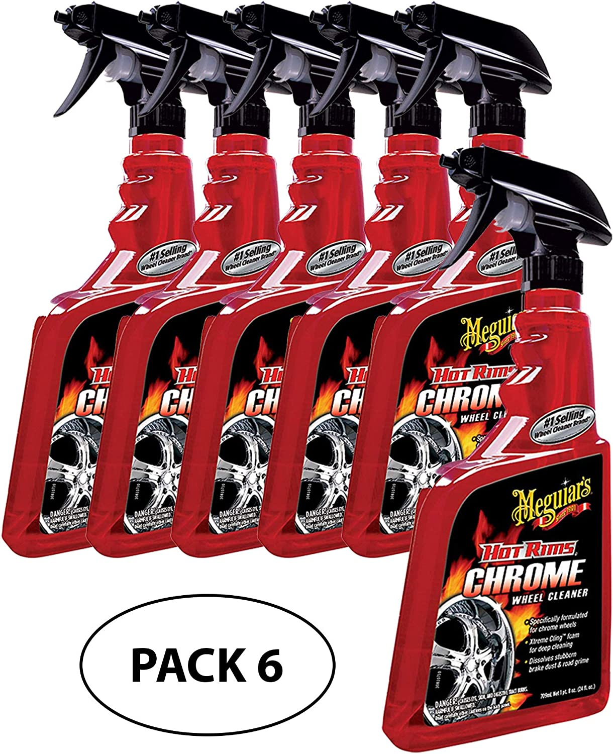 Meguiar's G19124 Hot Rims Chrome Wheel Cleaner