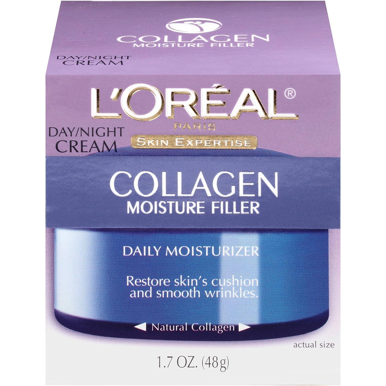 L'Oreal Paris Skin Expertise Collagen Moisture Filler Daily Moisturizer Day/Night Cream 1.7 oz (Pack of 4)