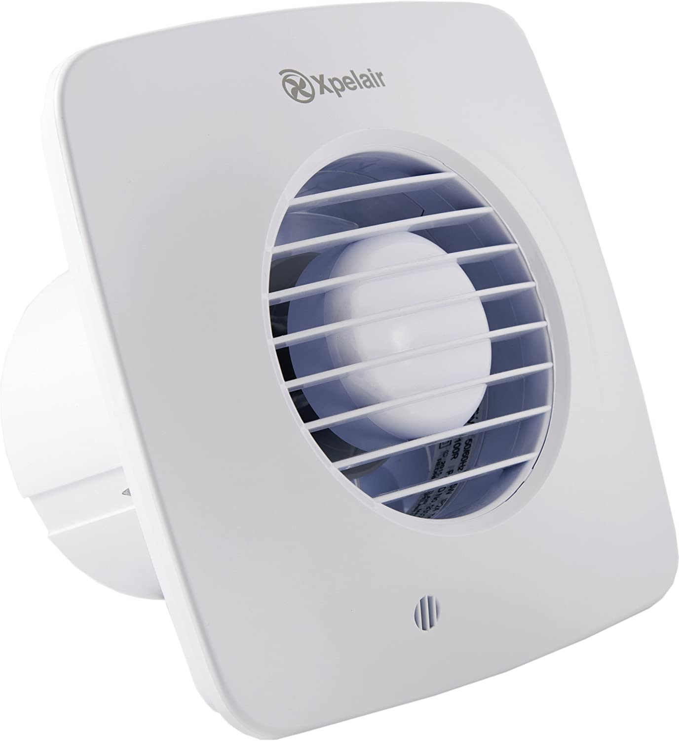 Simply Silent DX100 Bathroom Fan with Wall Kit-Humidistat Pullcord Square 100mm Cool White Xpelair DX100HPTS 4 inch