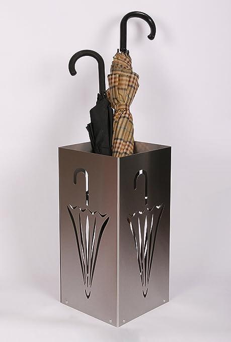 Regenschirmständer Design Umbrella closed, 23 x 23 cm, Edelstahl mattiert,  Marke: Szagato, Made in Germany (Schirmständer, Schirmhalter, ...