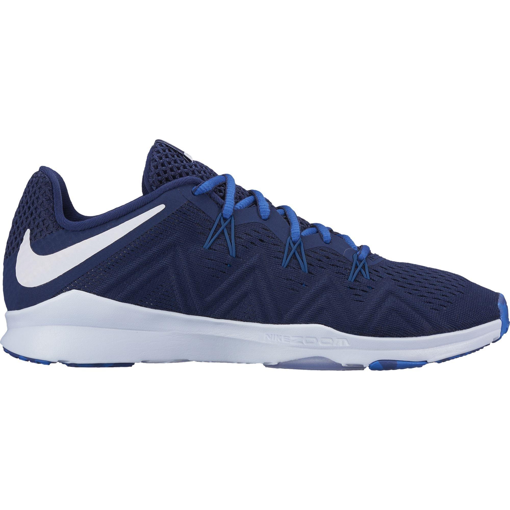NIKE Women's Air Zoom Condition Indigo Training Shoe Binary Blue/Metallic Silver/Blue Jay Size 8.5 M US