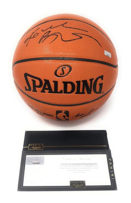 4f39e8d27ef1 Kobe Bryant Los Angeles Lakers Signed Autograph NBA Game Basketball Black  Ink Panini Authentic Certified