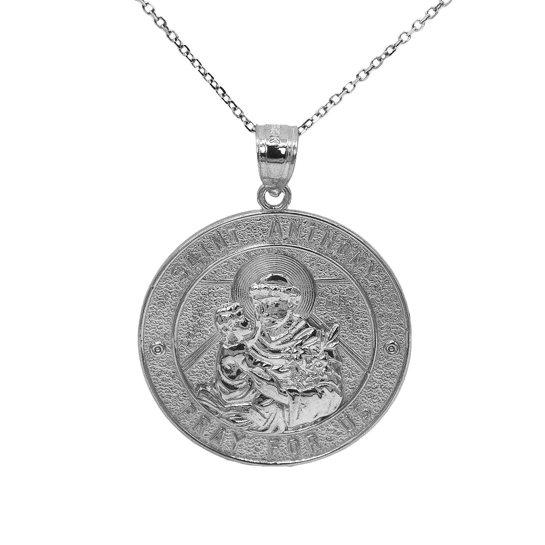 Bonyak Jewelry 18 Inch Rhodium Plated Necklace w// 4mm Light Purple February Birth Month Stone Beads and Saint Alexander Sauli Charm