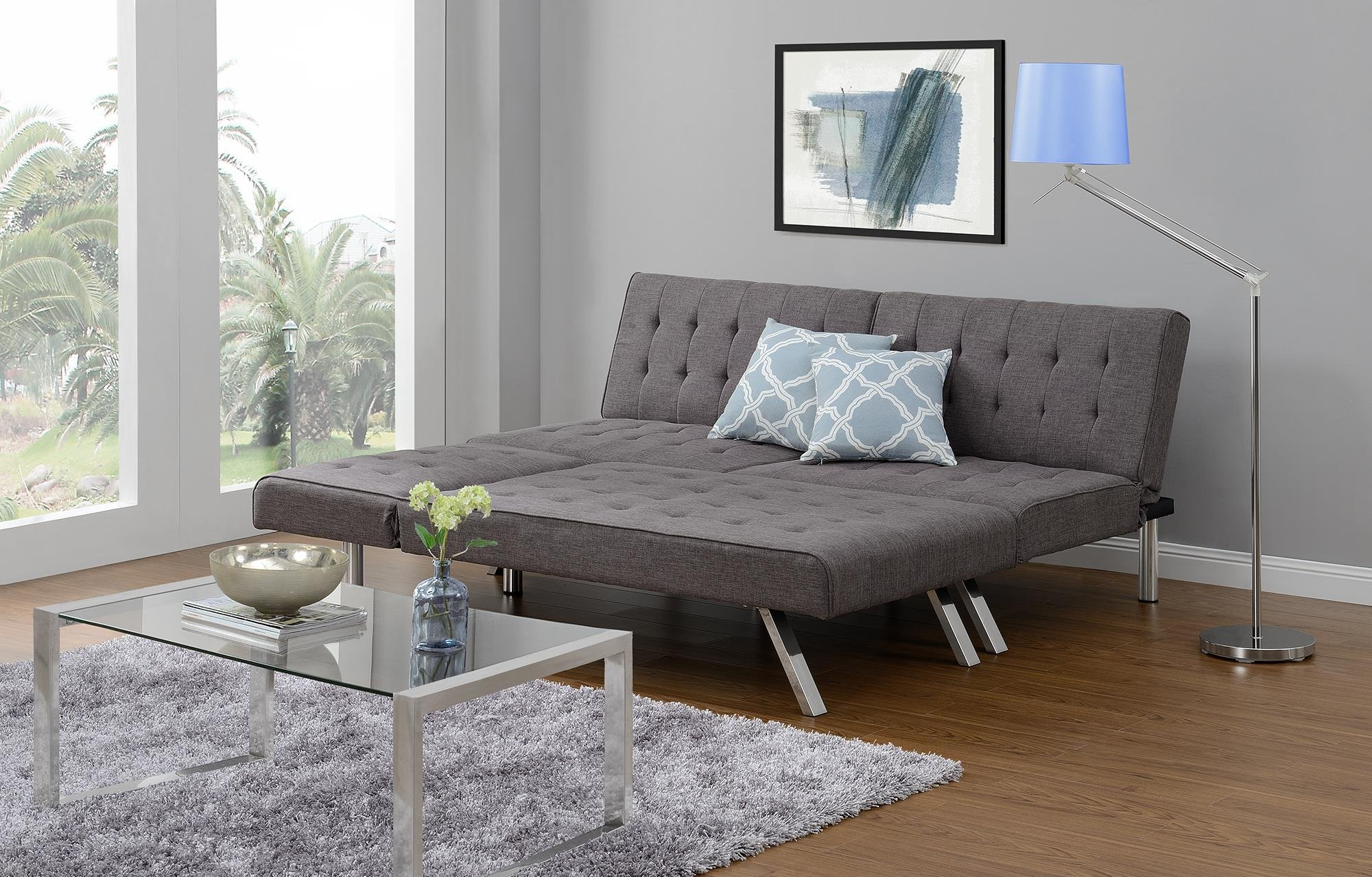dhp emily futon sofa bed modern convertible couch unboxing  u0026 reviews for dhp emily futon sofa bed modern      rh   unboxed tv