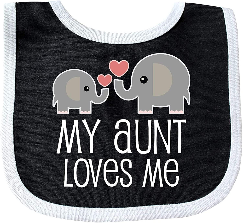 My Great Aunt Loves Me cute elephants Baby Bib Degrema
