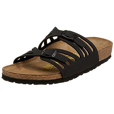 Birkenstock Granada Sandal,Black Birkibuc,36 N EU