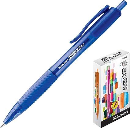 Luxor Micra X2 - Pack de 10 bolígrafos, color Azul: Amazon.es ...