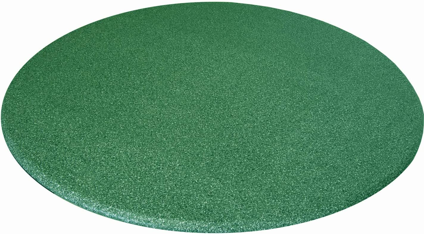 Fits 48 Inch to 60 Inch Tables Polished Granite Blue Fitted Vinyl Table Cloth Round with Elastic Edge