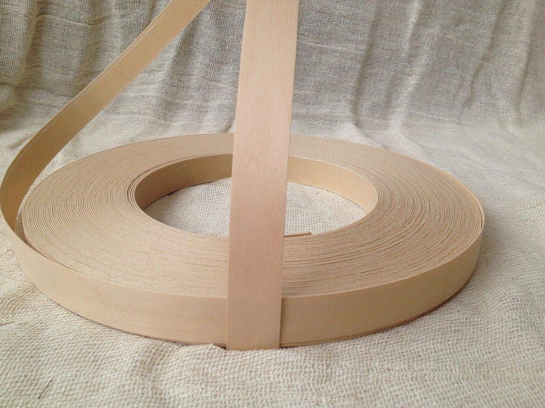 Pre Glued Iron on Birch Wood Veneer Edging Tape 22mm wide various lengths .Free Postage 10 metres