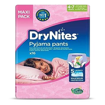2 er Pack 2 x 30 Pants Huggies DryNites Girl hochabsorbierende Pyjamahosen Unterhosen 4-7 Jahre