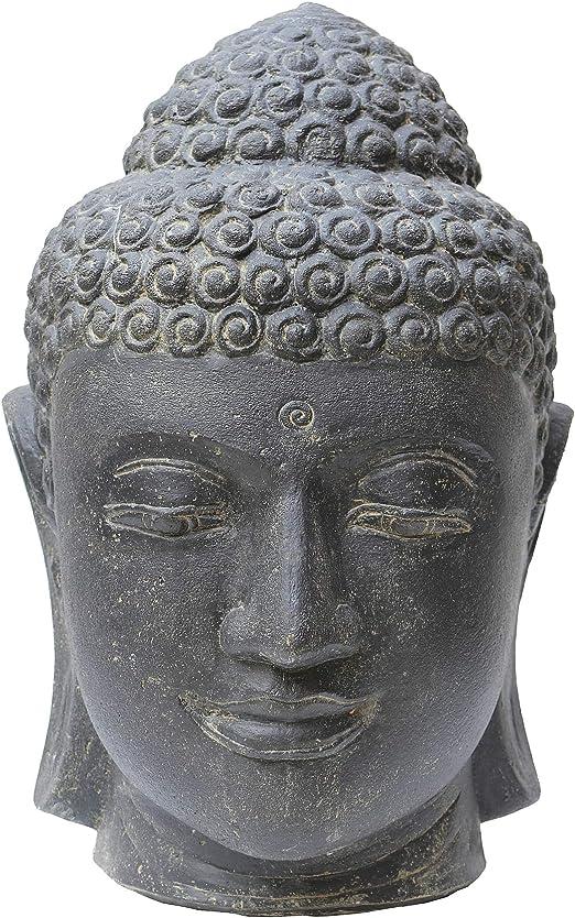 STONE art & more de Cabeza de Buda, 50 cm, Piedra Figura, Piedra ...