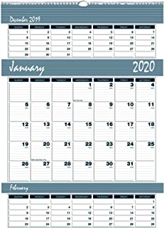 product image for House of Doolittle 2020 Three-Month Wall Calendar, Bar Harbor, 15.5 x 22 Inches, January - December, (HOD343-20)