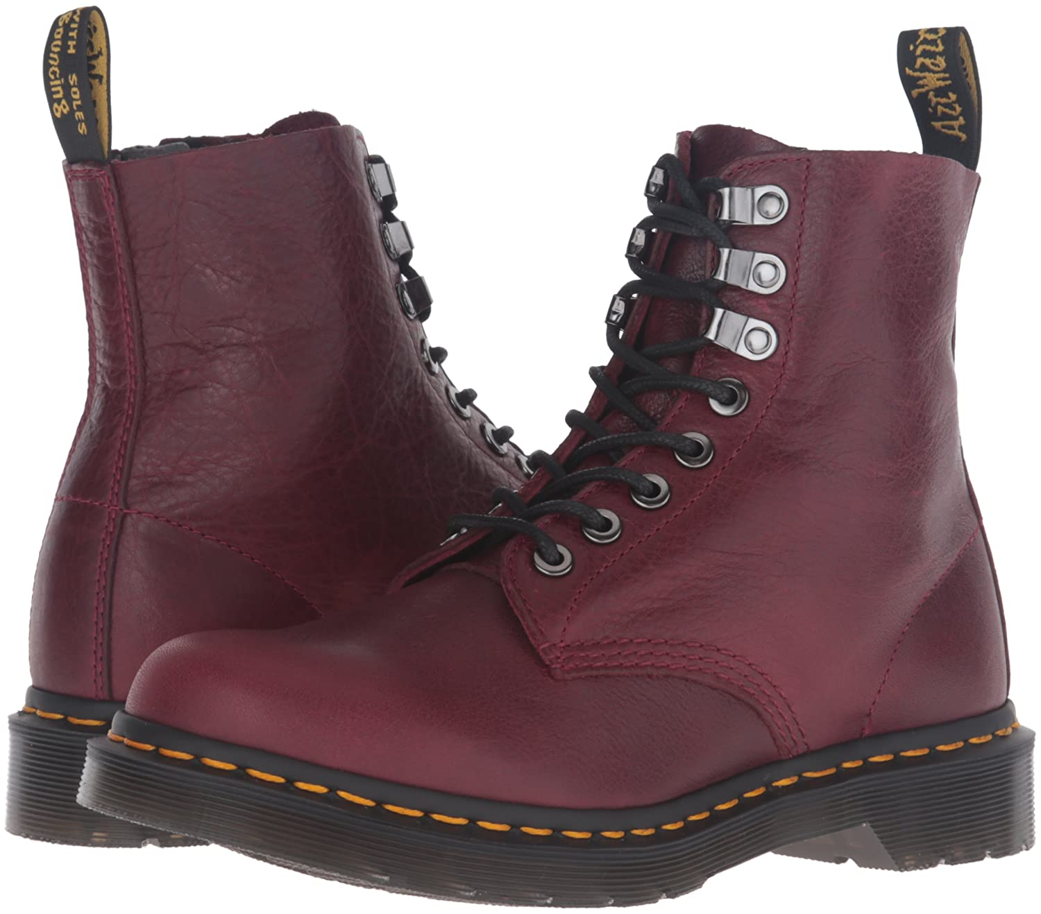 Dr. Martens Pascal PM Wine Naturesse Weinrot Rot Rot Rot 8-Loch 21610618 ae4933