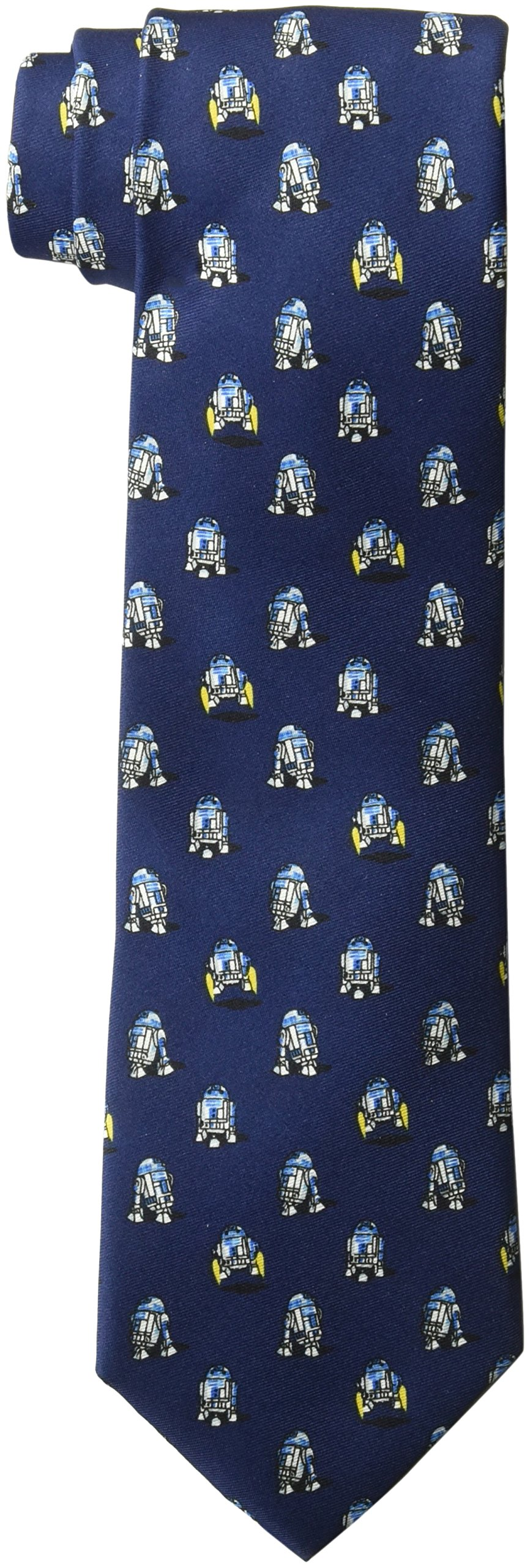 Star Wars Men's R2d2 All Over Tie, Navy, One Size