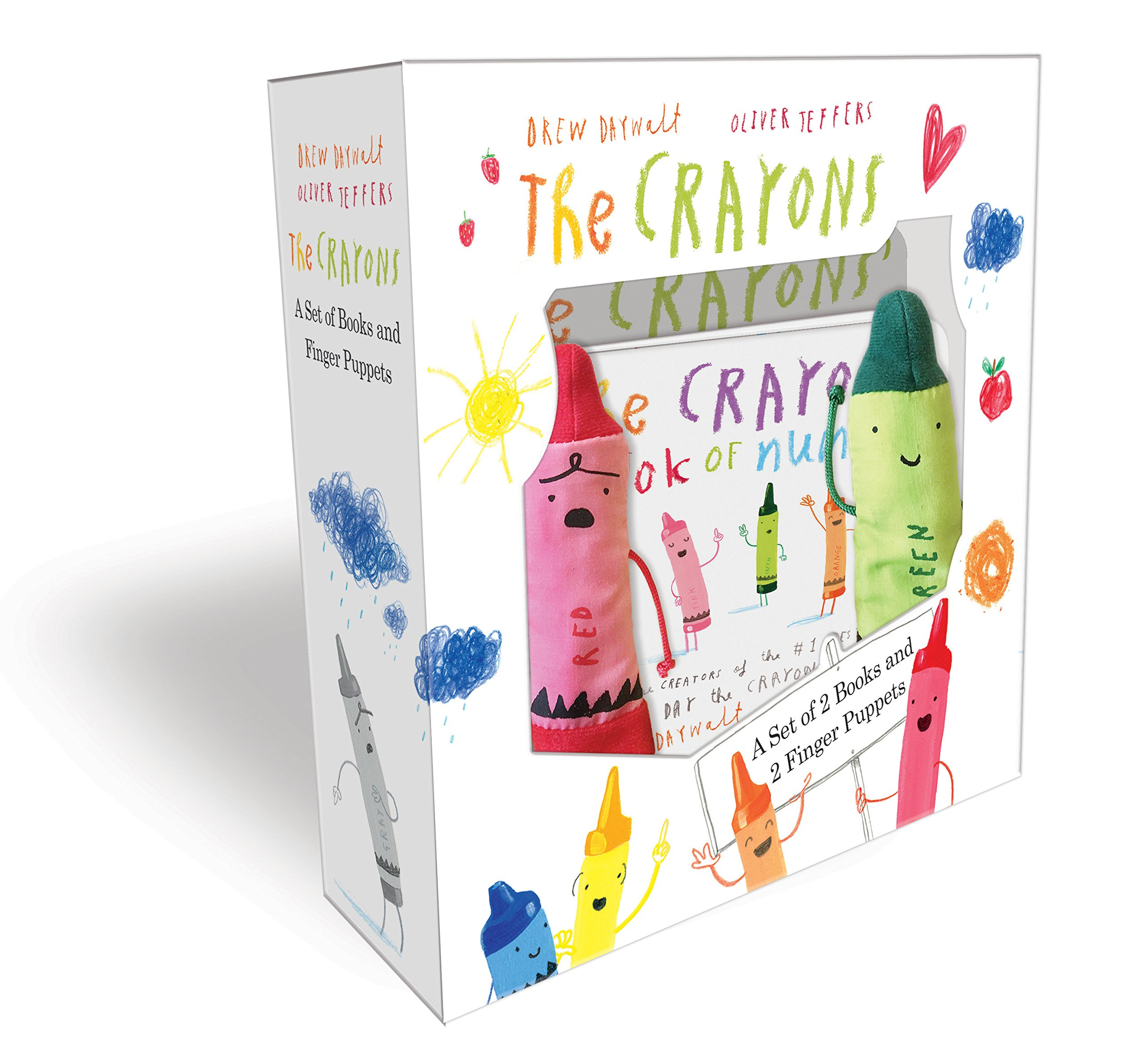 Amazon Com The Crayons A Set Of Books And Finger Puppets