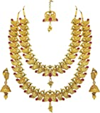 Goldtouch Wedding Gold Brass Peacock Necklace Set for Women