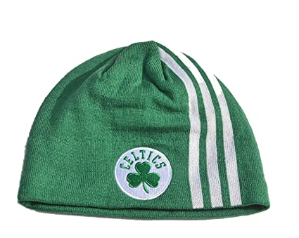 Boston Celtics Green Stripe Skull Cap - NBA Cuffless Beanie Winter Hat d21b57e0445