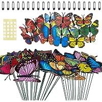 70 Piezas de estacas de Mariposa para jardín, Coloridos Adornos Decorativos para césped de jardín al Aire Libre, para…