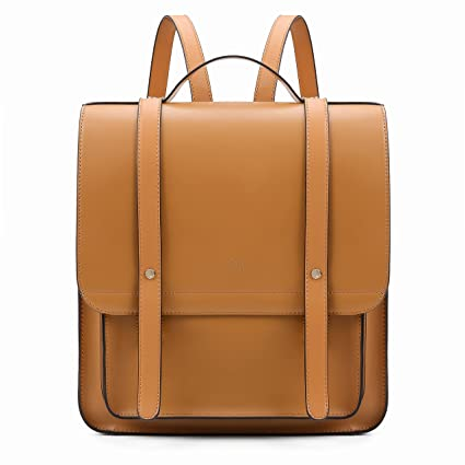 5f16af25e1 Amazon.com  ECOSUSI Women Briefcase Laptop Backpack PU Leather Satchel  Messenger Bag Fits up to 14 Inch Laptops with Small Purse